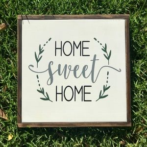 HOME SWEET HOME Rustic Farmhouse Living Room Sign
